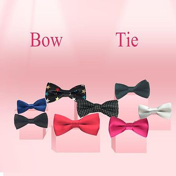 Children Kids Boys Toddler Infant Solid Color Wedding Pre Tied Clip Child Neck Bow Ties YHB0003