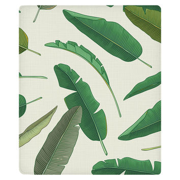 Banana Leaf Fleece Throw