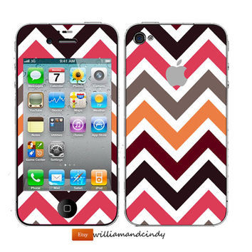 iphone 5 4 4s skin - Chevron colour pattern