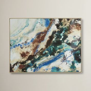 Marbleized Framed Painting Print
