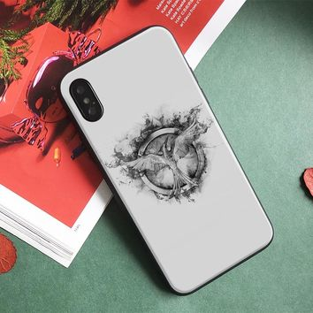 Hunger games mockingjay logo Phone Case For Apple IPhone X 8Plus 8 7Plus 7 6SPlus 6s 6Plus 6 Se 5s 5 Soft Silicone Cover Shell