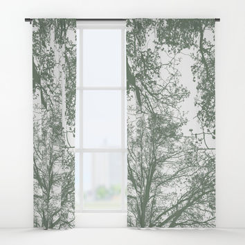 Abstract Trees Window Curtains by ARTbyJWP