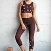 STARS POWER CROP LEGGING DARK RED