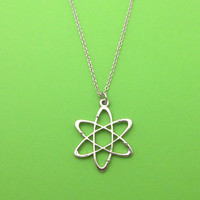 Atom, Chemistry, Silver, Keychain, Necklace, Birthday, Lovers, Friends, Sister, Gift