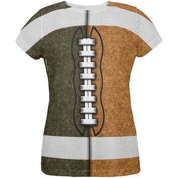 Fantasy Football Team Brown and Rust All Over Womens T Shirt