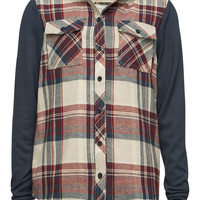 FULL TILT Girls Hooded Flannel Shirt | Flannels & Plaids