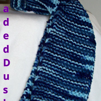 Winter Scarf-Shades of Blue