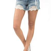Sneak Peek Crochet Jean Shorts