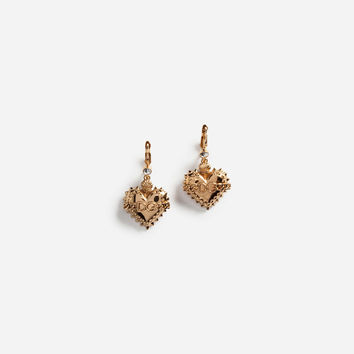 Pendant Heart Earrings With Logo - Women | Dolce&Gabbana
