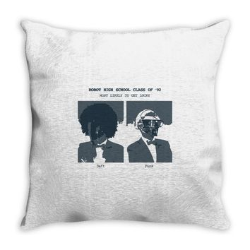 daft punk yearbook Throw Pillow
