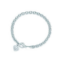 Tiffany & Co. - Return to Tiffany® heart tag toggle necklace in sterling silver, medium.