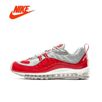 Original New Arrival Official Superme X NIKE Air Max 98 Breathable Men Running Shoes Outdoor Anti-slip Sports Sneakers