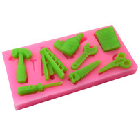 Hammer Opener Shape 3D Silicone Cake Mold DIY Fondant Gumpaste Molds Cake Decorating Tool Chocolate Soap Candy Sugarcraft Moulds