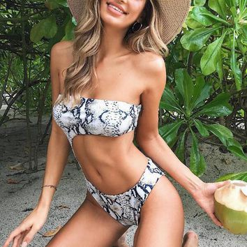 Hot Sale Sexy Women Summer Leopard Print Waist Hollow One Piece Bikini Swimsuit Bathing I12222-1