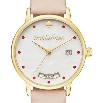 kate spade new york metro resolution leather band watch, 34mm | Nordstrom