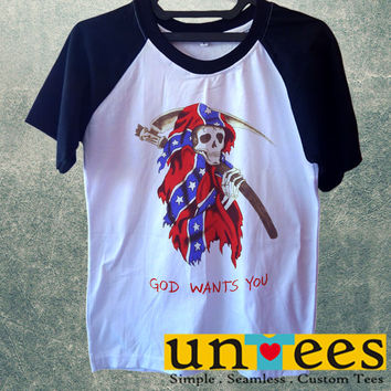 Kanye West Yeezus God Wants You Short Raglan Sleeves T-shirt