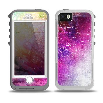 The Abstract Neon Paint Explosion Skin for the iPhone 5-5s OtterBox Preserver WaterProof Case