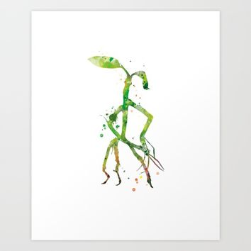 Pickett Bowtruckle Art Print by MonnPrint