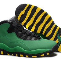 Jacklish Cheap Air Jordan 10 (x) Retro Oregon Ducks For Sale