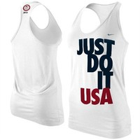 Nike Team USA London 2012 Womens Just Do It Racerback Tank Top - White
