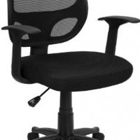 MidBack Black Mesh Swivel Task Chair