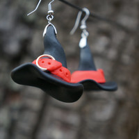 Witch Hat Earrings. The best for Halloween. Polymer clay jewelry.