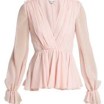 Gathered silk blouse | Giambattista Valli | MATCHESFASHION.COM UK