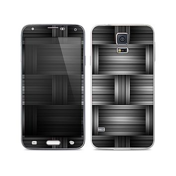 The Black & Gray Woven HD Pattern Skin For the Samsung Galaxy S5