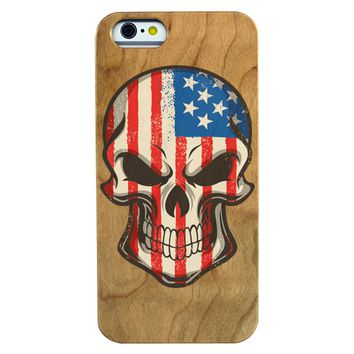 Skull with USA Flag Phone Case Phone