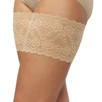 Plus Size Beige Thigh Bands