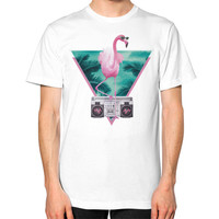Miami Flamingo Unisex T-Shirt (on man)