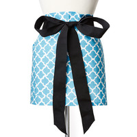 One Kings Lane - Be the Best Guest - Latticework Cocktail Apron, Ocean