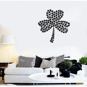 Wall Stickers Vinyl Decal Shamrock Symbol Ireland Irish Luck Unique Gift (ig1738)