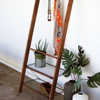 Wood & Wire Leaning Storage Unit