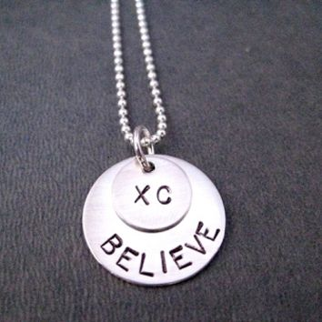 STERLING SILVER XC BELIEVE - Sterling Silver pendants on Sterling Silver Ball chain