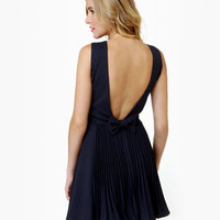 Los Low-Bows Navy Blue Dress