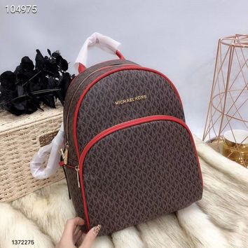 """Michael Kors"" Fashion Casual Classic Letter Print Backpack MK Unisex Large Capacity Travel Double Shoulder Bag"