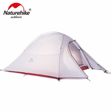 Naturehike CloudUp Ultralight Hiking Tent 20D/210T Fabric For 2 Person With Mat - Ships from USA