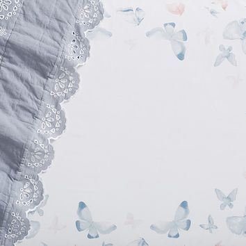 Organic Sateen Picture Perfect Butterfly Crib Fitted Sheet