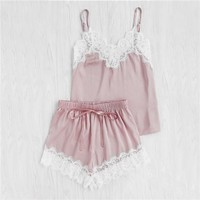Pink Satin Sleep Set