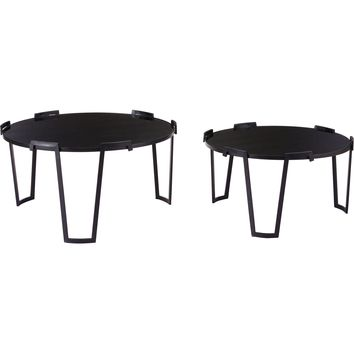 Black Nesting Coffee Tables (Set of 2)