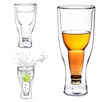 1Pcs Creative Crystal Transparent Bottle Upside Down Drinking Glass Cocktail