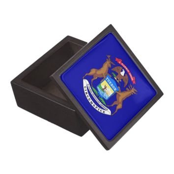 Michigan State Flag Premium Gift Box