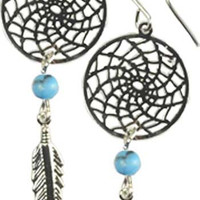 Styled after Native American dream catchers earrings - shipped from USA