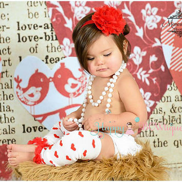 10% OFF order, Heart Ruffle leg warmers set, Leg Warmers and headband set, Valentines baby outfit, Valentine legwarmers, cake smash outfit