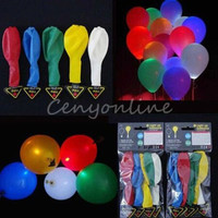 HOT! 5 Pack LED Air Hellium Mixed Color Party Balloons Wedding Light Decoration = 1932713668