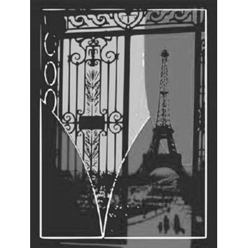 """Eiffel Tower Pop Art Poster Black and White Poster 16""""x24"""""""