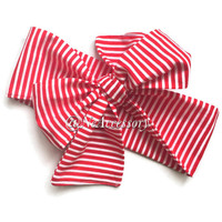 Red head wrap, Striped head wrap, baby head weap, baby turban, Infant-Adult (READY TO SHIP)