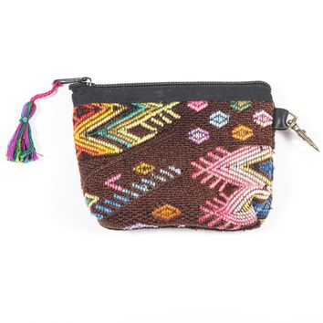 Upcycled Huipil Coin Purse (Guatemala) - Style 3