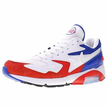 """The World Cup Nike Air Max 180 OG 2 Retro Running Sneaker """"France White Red Blue""""104042-004"""